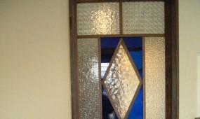 アンティークガラス入り造作建具